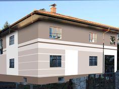 House modern facade wood and avec house facade beige white et with zanzibor com Fasade House, Wall Colors, House Colors, Fasade Design, White Houses, Exterior Design, Bungalow, Facade, Garden Design