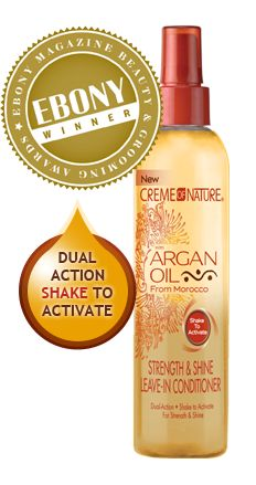 Cream of Nature Argan Oil Leave-in Conditioner: Tried this product recently while visiting my sister and its wonderful!  Had to buy it for myself; left my hair touchable soft, shiny and bouncy!!!