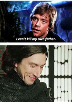 WOAH THERE NOT COOL The smug look on Kylo's face is killing me