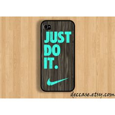 IPHONE 5 CASE NIKE Just do it wood colored mint da ($16)