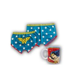 DC Comics Vintage Wonder Woman mug & Shorts set | Debenhams