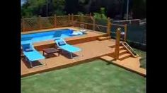 piscina fuori terra 5x10 con solarium in legno - YouTube