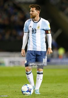 Lionel Messi of Argentina sets up for a free kick during a match. Leonel Messi, Neymar, Fifa, Lionel Messi Wallpapers, Salah Liverpool, Messi Photos, World Cup Qualifiers, Soccer Guys, Messi 10