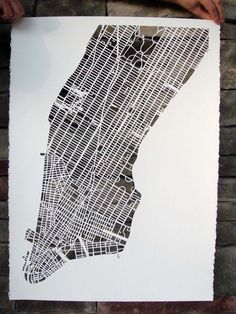 handcut map