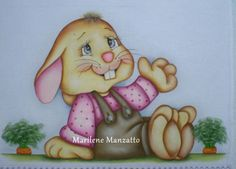 Pano de prato Painting Words, Fabric Painting, Easter Paintings, Spring Design, Cross Stitch Animals, Cute Bunny, Cute Illustration, Winnie The Pooh, Folk Art