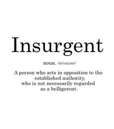 Are you Insurgent?