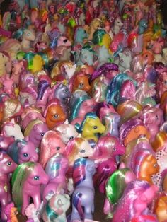 a rainbow made of ponies