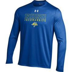Under Armour Men's South Dakota State Jackrabbits Blue Long Sleeve Tech T-Shirt, Size: Medium, Multi