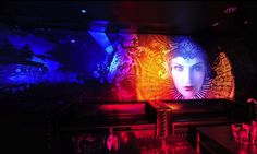REIGN Nightclub Atlanta - Mural design by Amy Rader