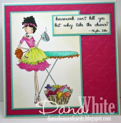 Uptown Girl Lily love Laundry card - Image from Stamping Bella