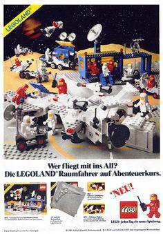 Lego space vintage ad in German
