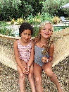 These two have been completely inseparable for the past few days. Like two peas in a pod! It's so beautiful to watch a new friendship form. Little Girl Bikini, Little Girl Swimsuits, Cute Little Girls Outfits, Cute Girl Dresses, Teen Girl Outfits, Cute Girls, Preteen Girls Fashion, Young Girl Fashion, Little Girl Models