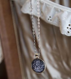 You Are So Loved Chalkboard Necklace   A lovely present for her special day, this chalkboard pendant ...   Necklaces