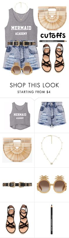 """Denim cutoffs"" by miee0105 ❤ liked on Polyvore featuring Cult Gaia, Gucci, B-Low the Belt and NYX"
