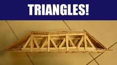 Popsicle Sticks: Building a Strong Truss Bridge with Triangles - VIDEO instuction Popsicle Stick Bridges, Popsicle Sticks, Popsicle Bridge, Plant Science, Stem Science, Science For Kids, Physics Projects, Science Fair Projects, Grade 3 Science
