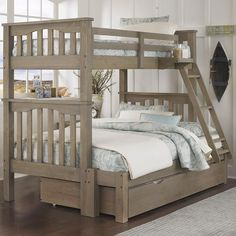 Highlands Twin Over Full Harper Bunk Bed With Trundle by NE Kids