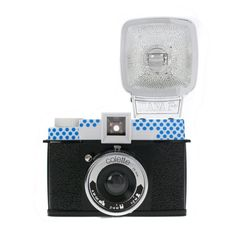Collaboration between Diana F+ colette    This version is covered in colette blue dots and carries all features of Lomography's Diana F+ latest edition. Originally created in the 60s, the Diana camera, entirely made of plastic, is a true legend – made famous with its flaming and lo-fi images.