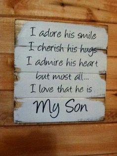 Mooie tekst voor op je geboortekaartjes of voor een leuke kaart aan je zoon, omdat je trots bent op je mooie jongen.