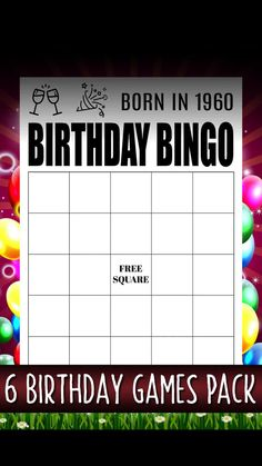Birthday Games, Games For Adults Funny, Birthday Party Games For Adults, Birthday Adult Ideas printables printables for adults worksheet kindergarten birthday printable birthday printable cards Indoor Birthday Games, Birthday Games For Kids, 90th Birthday Parties, Adult Birthday Party, Funny Birthday, Birthday Celebration, Birthday Ideas, Happy Birthday, Games Party
