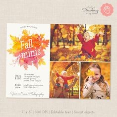 Fall Mini Session Template: Fall Watercolor by StudioStrawberry
