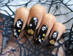 Spooky Ghosts Nail Art