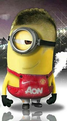 Manchester United Minion.  See my Minion pins https://www.pinterest.com/search/my_pins/?q=minions