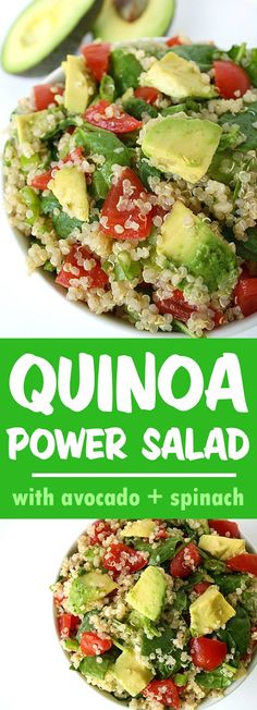 Our favorite quinoa dish! Filling and energizing with a powerful nutritional punch! Great for packed lunches #vegan #quinoa #avocado #salad #lunch