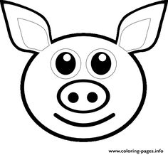 Pig Face Coloring Page | Coloring Pages | Pinterest ...