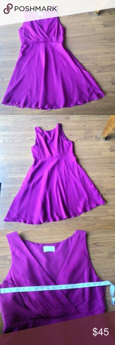 """J. Crew royal purple party dress **read for size** Adorable J. Crew party dress. Size tag has been cut out so please check measurements! Jewel tone purple color. Sleeveless. Measurements when laying flat: bust- 18"""", waist- 17"""", hips free, length- . 39.5"""". According to j. Crew web site this would be an XL. J. Crew Dresses"""