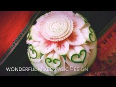 Simple Watermelon Flower Style - Int Lesson 1 By Mutita Art Of Fruit And Vegetable Carving Video - YouTube