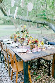 Fall bohemian wedding inspiration | Real Weddings and Parties | 100 Layer Cake