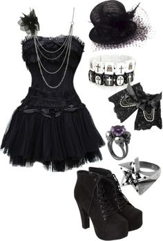 """Untitled #538"" by bvb3666 ❤ liked on Polyvore I don't like the bracelets though Id burn if I wore them..."