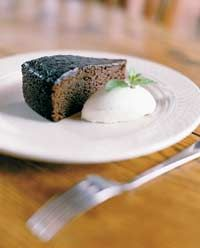 Make this layer buttermilk chocolate cake for a rich fudgey flavor with a hint of peppermint.