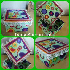 Caixa de mdf com tecido