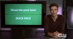 Grant Gustin's 'Duck Face' haha