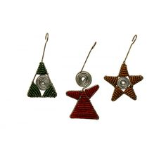 African Spiral Decorations (Set of Three)  at Evoke Africa
