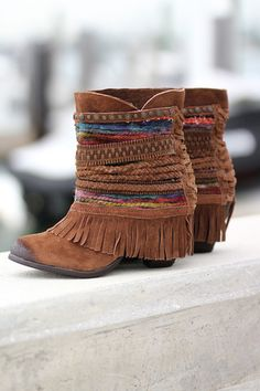 Poncho Tan Booties