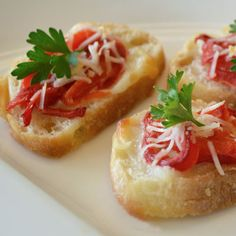 Italian Red Pepper Crostini | Land O'Lakes. Couldn't be simpler!