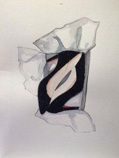 Louboutin glitter illustration by GlendaVaccaro