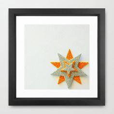 Stars+Overlap+In+A+Corner+Framed+Art+Print+by+Jensen+Merrell+Designs+-+$32.00