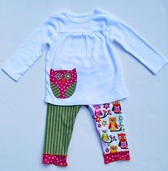 Fun mismatched leggings with co-coordinating shirt How To Make Clothes, Making Clothes, Sewing Projects, Sewing Ideas, Cute Diys, Little Girl Fashion, My Baby Girl, Little People, Girl Birthday