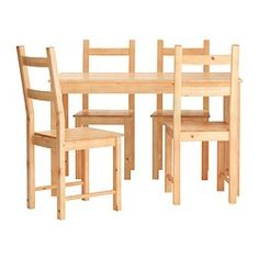 INGO / IVAR, Table and 4 chairs, pine