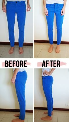 fix skinny jeans (or any jeans) that are too big. A good thing to know if you lose weight but dont want to splurge on tons of new jeans!   Hopefu