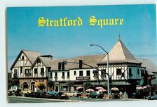 Vintage Postcards Stratford Square Del Mar California CA Shopping Complex View