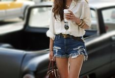 high waisted and button up