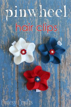 4th of July Hair Bows and a GIVEAWAY! - Cutesy Crafts