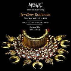 Drawing inspiration from World Art, Architecture, Nature & Spirituality, Apala by Sumit has now come up with a contemporary bold twist. Join us at the Jewellery Exhibition 'Heavenly Treasures' at @parkhyatthyderabad starting today till 2nd Oct from 10:30am to 8pm.  #BollywoodForApala  #jewellery #bollywood #bollywoodcelebrities #celebrity #jewellerydesign #fashion #style #trend #ethnic #western #silverjewellery