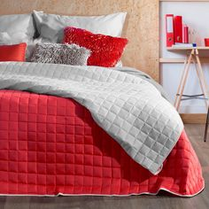 Cuvertura reversibila Paula Red / Grey, 220 x 240 cm Red And Grey, Comforters, Blanket, Interior Design, Bedroom, Inspiration, Home Decor, Creature Comforts, Nest Design