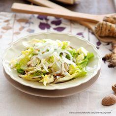knackiger Endivie mit Topinambur Cabbage, Tacos, Vegetables, Ethnic Recipes, Food, Salads, Cooking Recipes, Meal, Essen