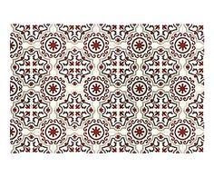 Alfombra vin lica collage 50x100 cm mosaicos y dibujos - Alfombras dibujos geometricos ...